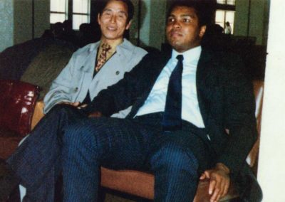 Mohammad Ali, regarded as one of the greatest heavyweight boxers in the history of the sport, visits Supreme Master Kim Bok Man in Hong Kong in 1977.