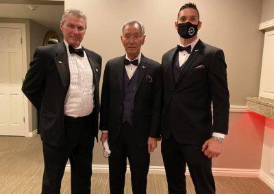 Supreme Master Bok Man Kim, Grandmaster Brad Shipp and Master Eddie Minyard at the 2020 USKF Hall of Fame Event