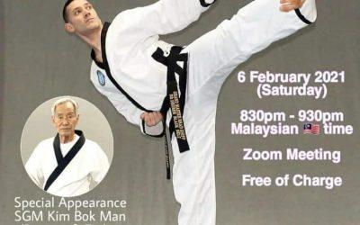 Grandmaster Brad Shipp Hosts Zoom Seminar for Short Stick Defense & Basic Chun Kuhn Taekwondo Patterns