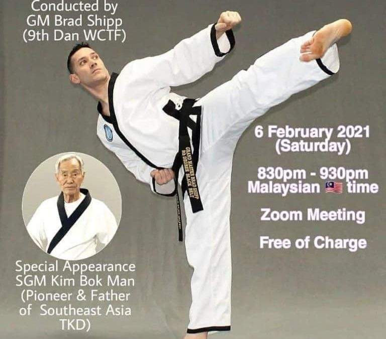 Grandmaster Brad Shipp Hosts Zoom Seminar for Short Stick Defense & Basic Chun Kuhn Taekwondo Patterns